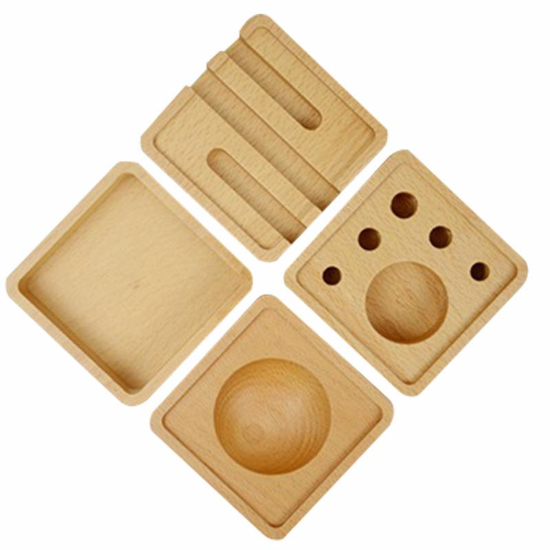 Wooden Desktop Combination Storage Box Stationery Wooden Box Business Card Holder Mobile Phone Holder Storage Supplies car air vent outlet plastic phone card holder automobiles mobilephone hanging pocket storage box pouch car supplies