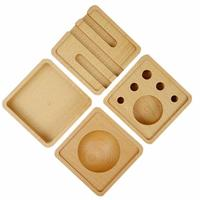 Wooden Desktop Combination Storage Box Stationery Wooden Box Business Card Holder Mobile Phone Holder Storage Supplies