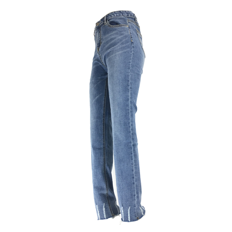 Women's Clothing Jeans Me&ski 2019 New Women Stretch Casual Denim Scratched Skinny High Waist Elastic Jeans Ripped Pants High Waist Trousers Jeans Lady An Enriches And Nutrient For The Liver And Kidney