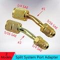 Мини-адаптер для вакуумного порта с разделенной системой  преобразует R410a стиль 5/16 SAE сервисный порт s  чтобы принять более старые 1/4 SAE Шланги...