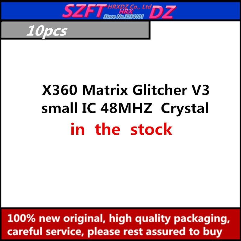 SZFTHRXDZ 10PCS X360 Matrix Glitcher V3 Blue PCB small IC 48MHZ Crystal oscillator