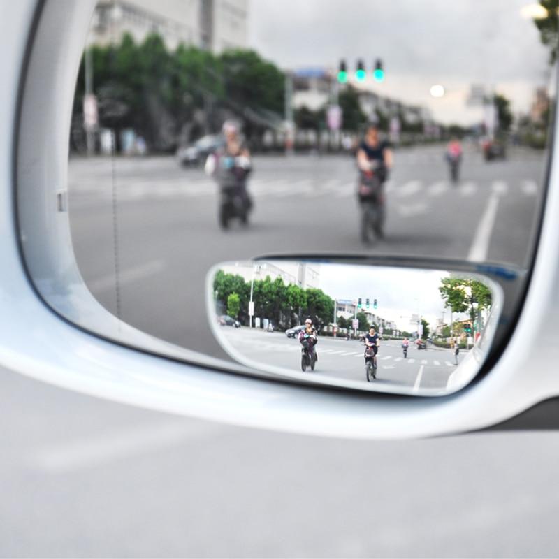 1 пара, Автомобильное зеркало заднего вида, автоматическое безопасное зеркало для слепых мест, вращающееся на 360 градусов, регулируемое широ... title=