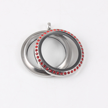 25mm New Arrival Round WaterProof Floating Locket Pendant Stainless Steel Screw With Rhinestone