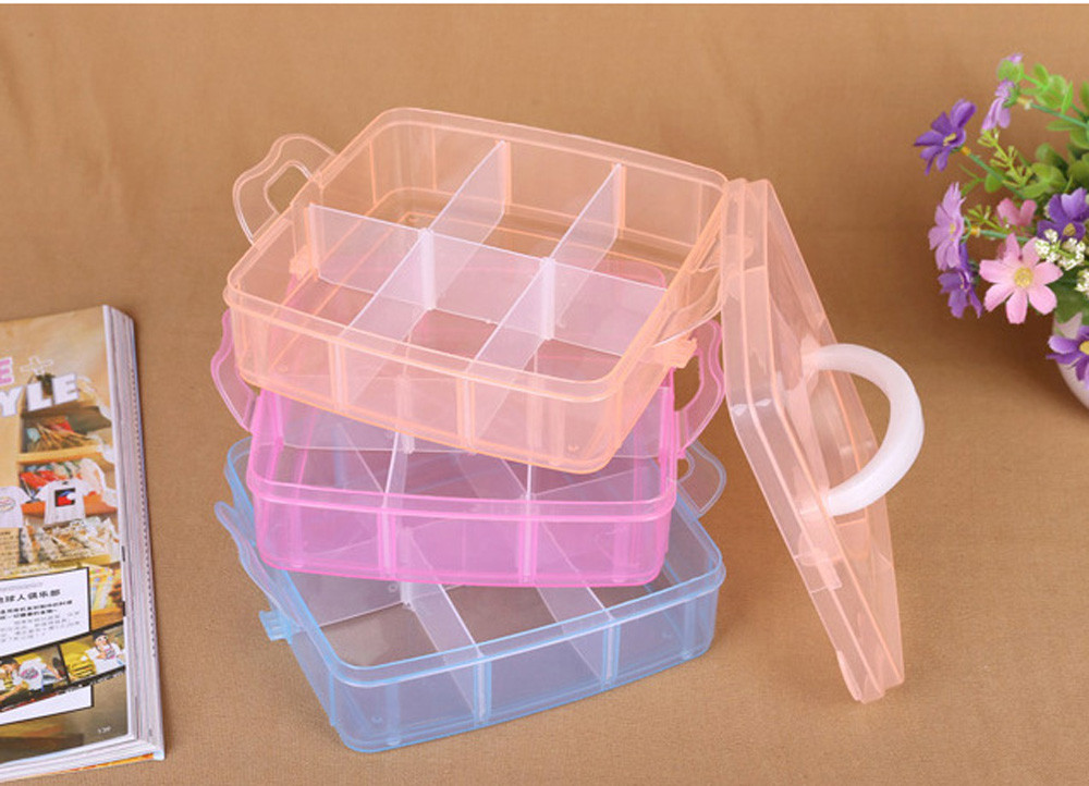 FS5 New Clear Plastic Jewelry Bead Storage Box Container Organizer Case Craft Tool sep28