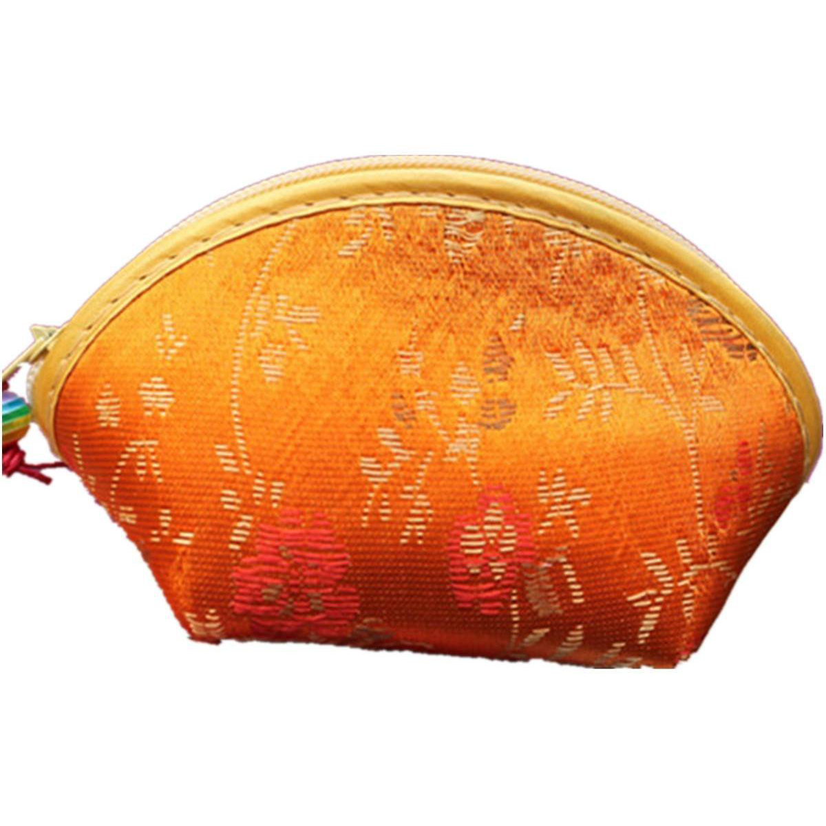VSEN Hot Chinese Silk Embroidery Wallet Change Coin Bag Handbag Small Purse Pouch Random vsen hot noctilucent cat zipper coin case purse wallet pouch handbag bag