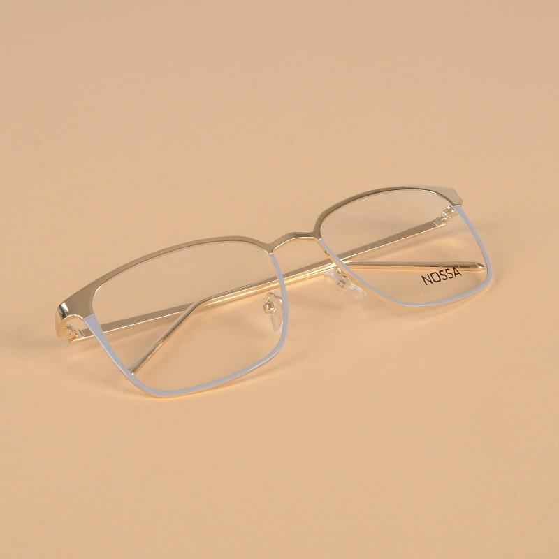 Metall Gold Gläser Rahmen Große Optische Gläser Männer Frauen Kühlen ...