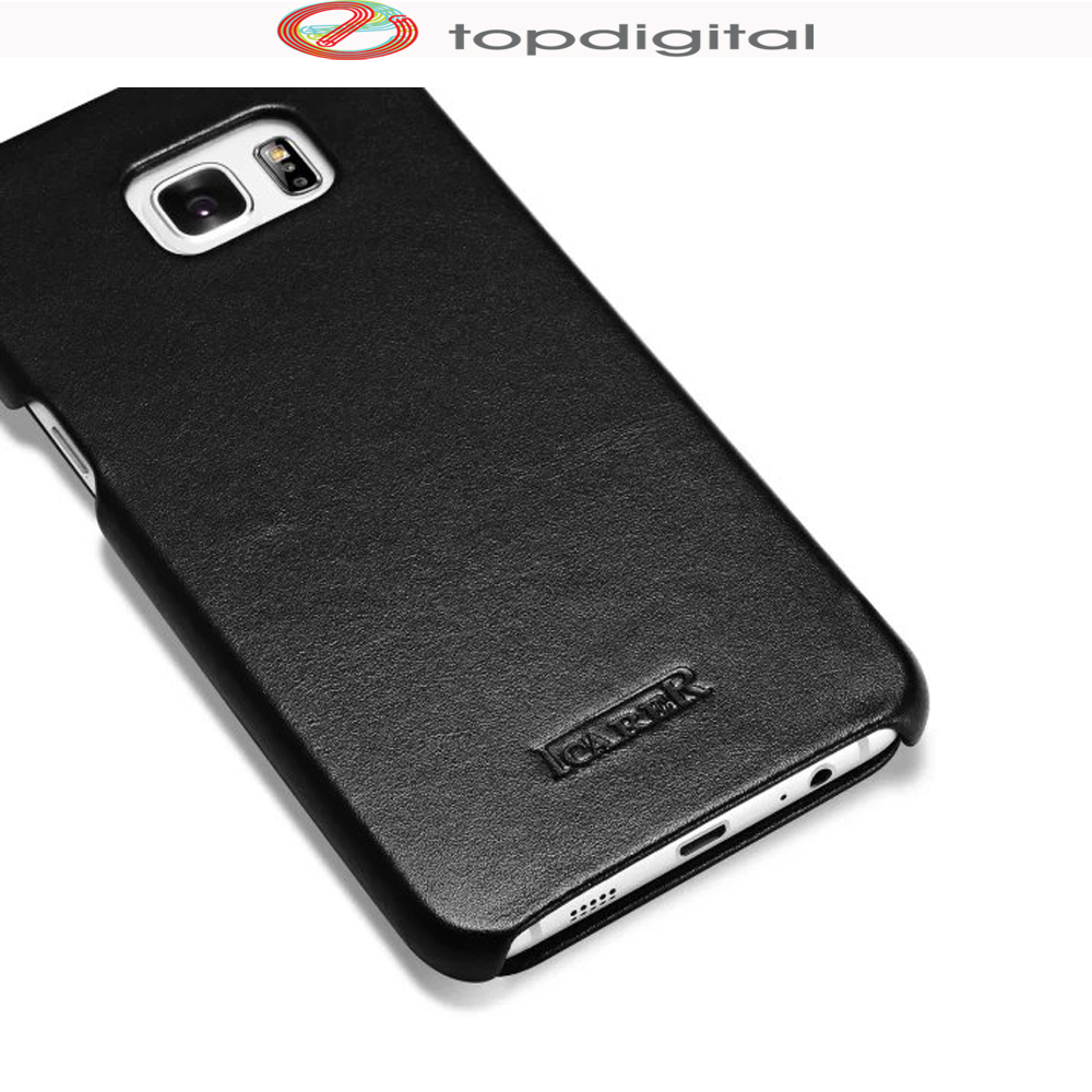 the latest 48a96 33ed9 US $16.63 11% OFF|icarer Genuine Leather Case for Samsung GALAXY S6 edge  Plus Cover Flip Cell Phone Case S6 edge Plus (5.7inch) Ultra Slim Luxury-in  ...