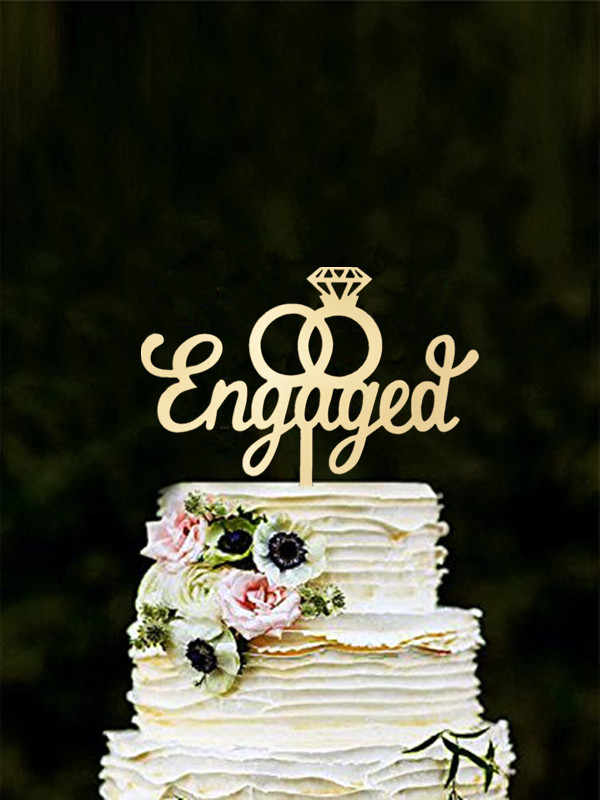 We Re Engaged Cake Topper Engagement Bridal Shower Wedding Bachelorette Party Decoration With Premium Gold Glitter Cake Decorating Supplies Aliexpress