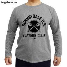0f5a64db1 Camiseta de manga longa homens marca de luxo tops Matador Buffy the Vampire  Slayer Sunnydale HS
