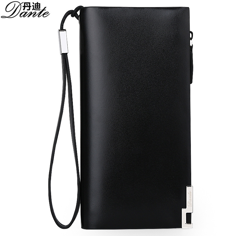 Business Casual Men Wallets Genuine Cowhide Leather Fashion Long Zipper Clutch Bag Cow Leather Wallet Brand High Quality feidikabolo brand zipper men wallets with phone bag pu leather clutch wallet large capacity casual long business men s wallets