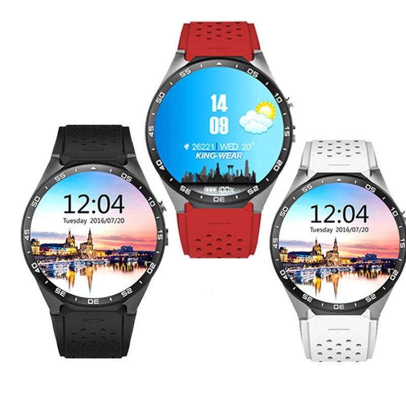 Kw88 3g quadcore teléfono google android 5.1 smart watch relogios invictas smart