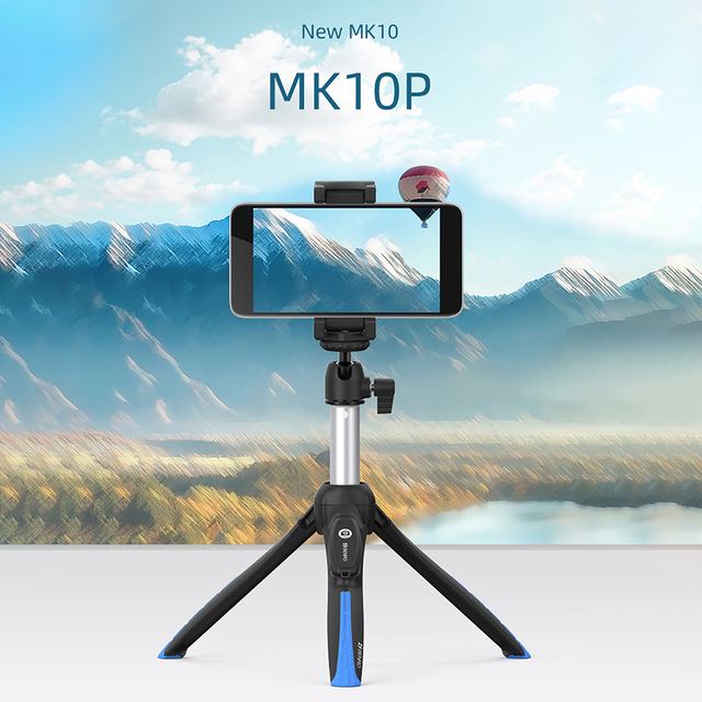 Benro MK10 השני משולבת כף יד חצובה Selfie מקל עבור iPhone XS מקסימום X 8 סמסונג Huawei P30 DJI אוסמו כיס מצלמה