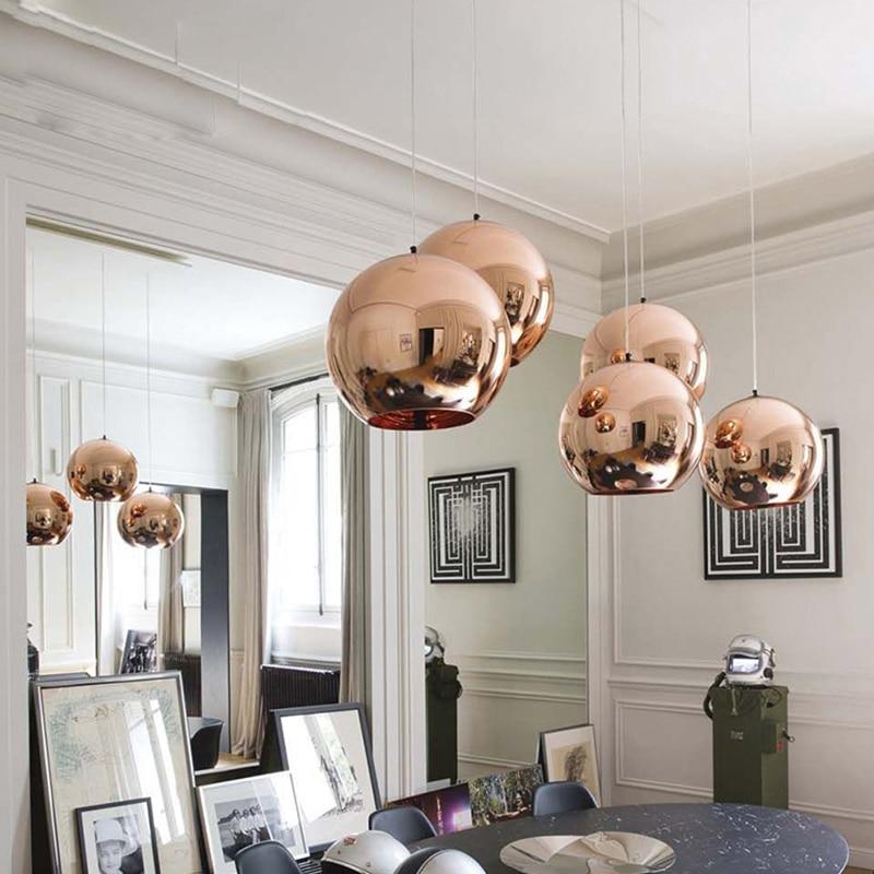 Nordic hause globus glas pendelleuchte silber gold kupfer farbe ...