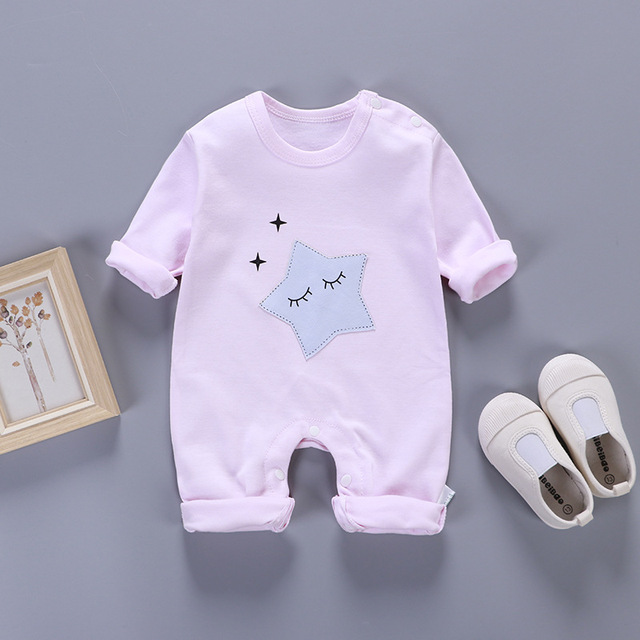 fddc01a81b3e 2018 new baby clothes Fashion printing Cotton Baby Girls Boys Long sleeve  Romper Jumpsuit One-pieces Outfits newborn clothes