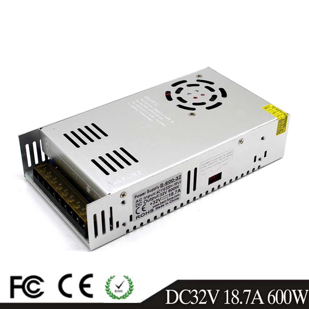 Single Output Switching power supply 600W 32V 18 7A Driver Transformers AC110V 220V TO DC32V SMPS