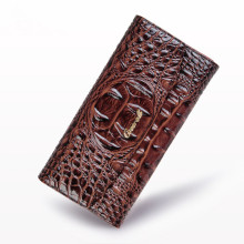 Crocodile Women Wallets Vintage Genuine Leather Long Female Purse Designer Embossing Alligator Clutch Lady Wallet Card Holder