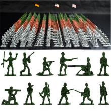 100pcs/set Military Plastic Toy Soldiers Army Men Figures 12 Poses Gift Toy Model Action Figure Toys For Children Boys цена