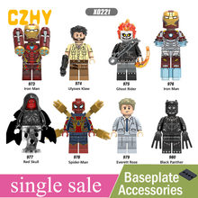 Single sale Infinity War Blocks Ulysses Klaw Ghost Rider Red Skull Everett Rose Black Panther Build Toys Legoe MINIFigureD X0221(China)