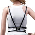 Sexy Unisex Harness Leather Soft Halterneck Body Bondage Cage Waist Belt Straps