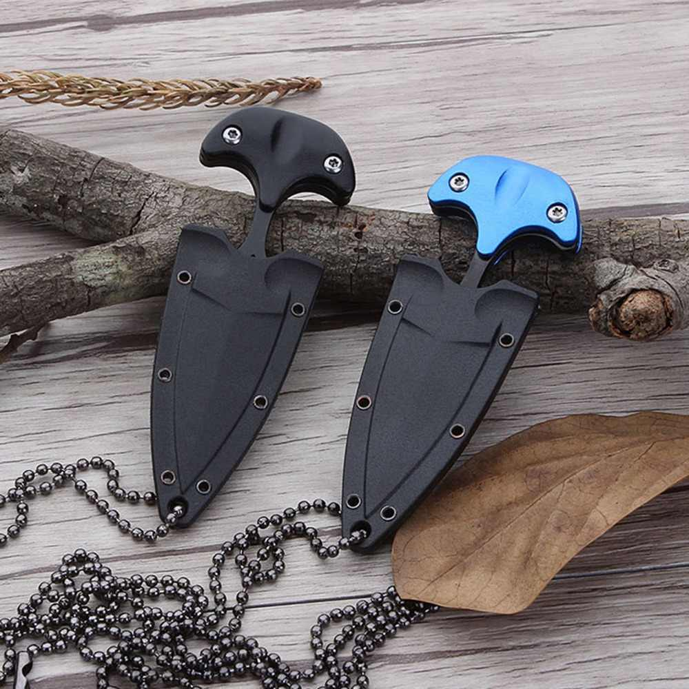 1 pc Multifunctional Mini Hanging Necklace Knife Protable Outdoor Camping Knife Rescue Survival Tool