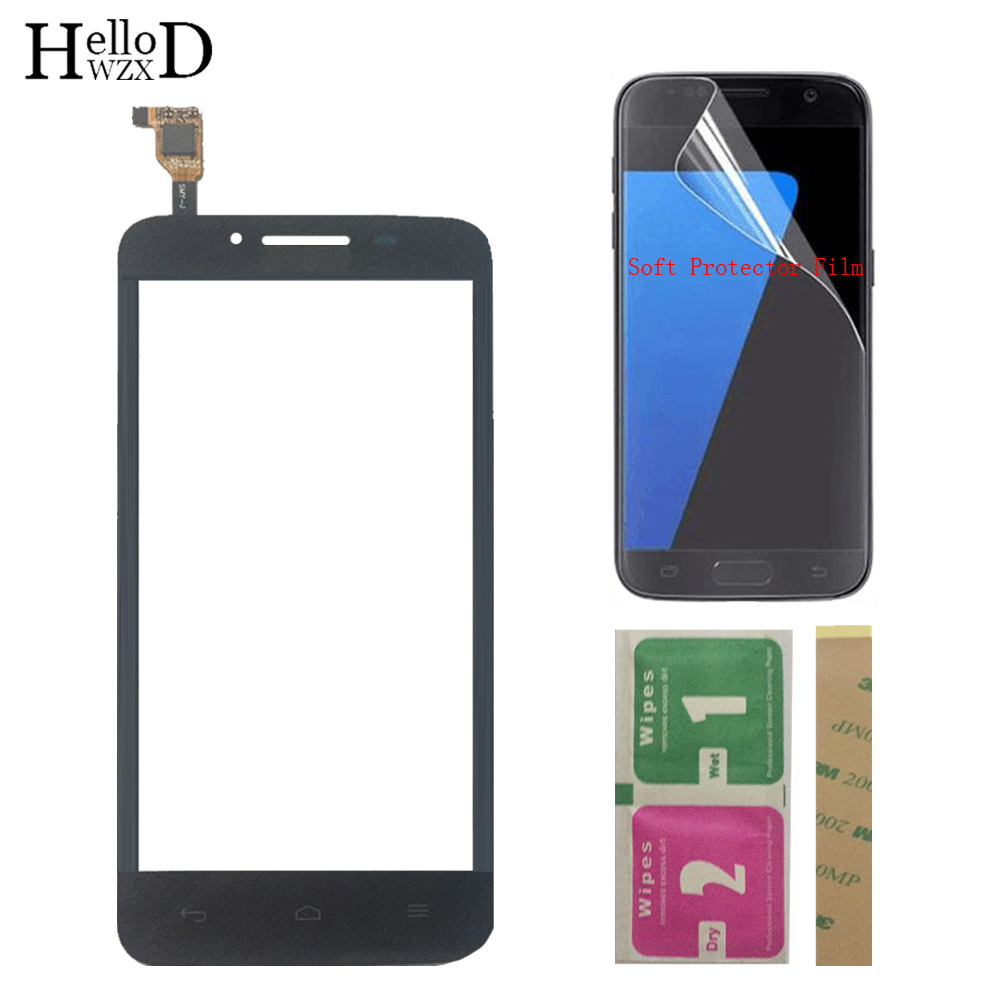 4.5'' Mobile Touch Screen TouchScreen For Huawei Ascend Y511 Touch Front Glass Digitizer Panel Lens Sensor + Protector Film