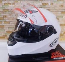 white motorcycle ARAI helmet full face motorbike moto off road dirt bike motocross helmets Kick scooter cap for woman men