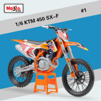 Maisto for KTM 450 SX F 2017 Motorcycle Simulation Alloy Model 1:6 Motorbike Motocross Speelgoed Auto Wheels Toys for Children