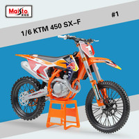 Maisto for KTM 450 SX F 2017 Motorcycle Simulation Alloy Model 1:6 Motorbike Motocross Speelgoed Auto Wheels Toys for Children