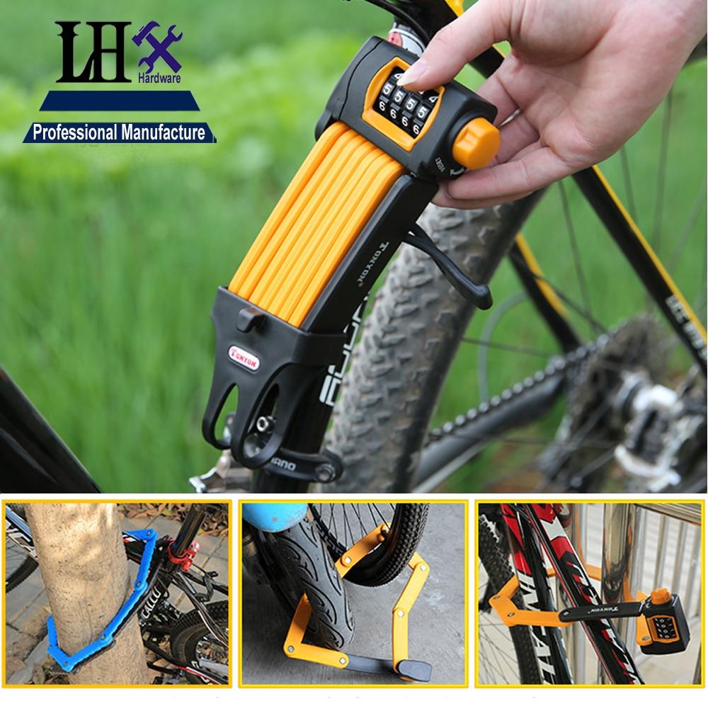 LHX DMMS545 acier allié 4 roues coureur PasswordLock résistance des pinces hydrauliques utilisées dans la porte en boîte ou les portes vélo i