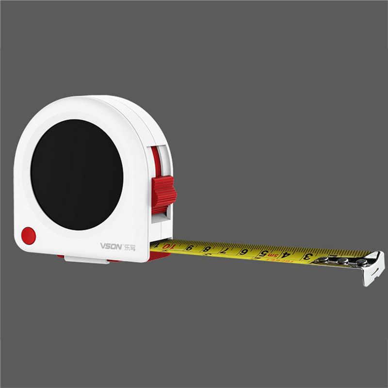 Cinta de medición de cristal líquido de 5M para medición de carpintería cinta de medición de tableta LCD cinta de medir digital