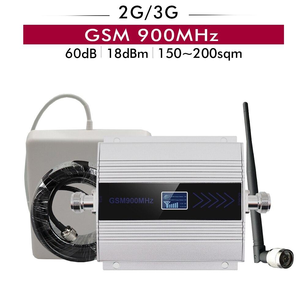 Amplificateur de Signal GSM 900 2G 3G GSM 900 MHz répéteur de Signal de téléphone cellulaire amplificateur cellulaire GSM 900 ensemble d'antenne de Booster de Signal Mobile
