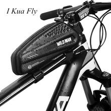 2019 Bicycle Bag Waterproof Pressure Top Tube Front Frame Cycling Saddle Tail Bag Cellphone Bike Bag Repair Tool 4