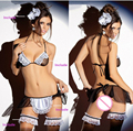 1PCS Transparent Women Sexy Lingerie Hot Sexy Racy Muslin Underwear Women Set Sex Products Maid Uniform Temptation NY019