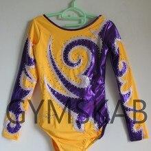 Трико для гимнастики ритмики, женское, девичье, подгонянное, балетное гимнастическое платье, гимнастическое трико 7041