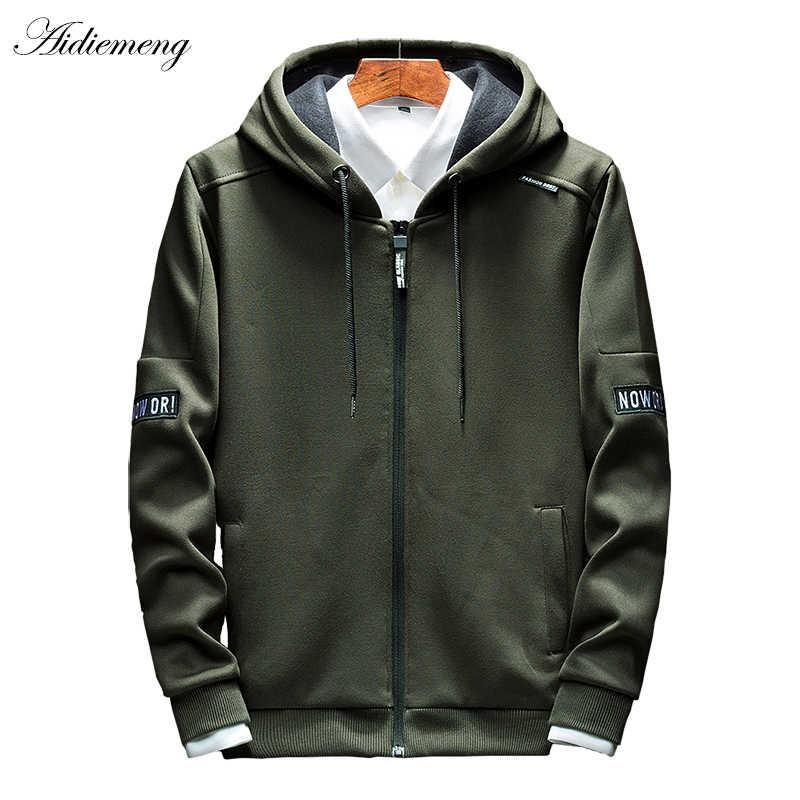 パーカー男性 2019 秋ジッパーパーカー厚いトップファッション男性付きジャケット男性コートパーカー