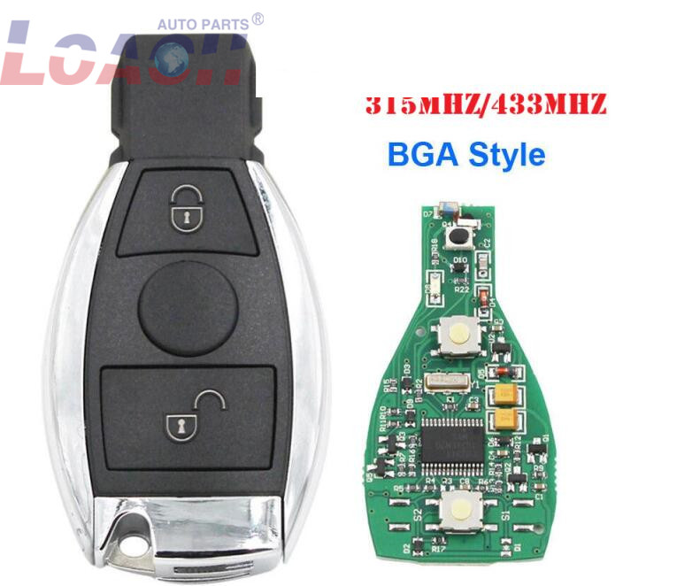 10psc/лот Smart Remote Key 2 кнопки 315/433 МГц BGA стиль с чипом для Mercedes Benz 2000 +