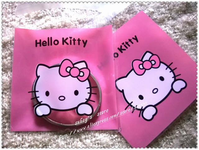 placeholder 100pcs lot 2size Cookie plastic bags pink hello kitty bags cake  snack baking packages10x10cm 30d6acce2890f