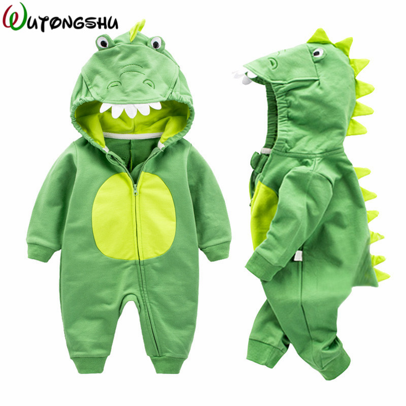 Animal Alligator Newborn Baby Rompers Boy Girl Winter Warm Climbing Clothes Spring Long Sleeve Baby Costome Wear Infant Jumpsuit cartoon fox baby rompers pajamas newborn baby clothes infant cotton long sleeve jumpsuits boy girl warm autumn clothes wear