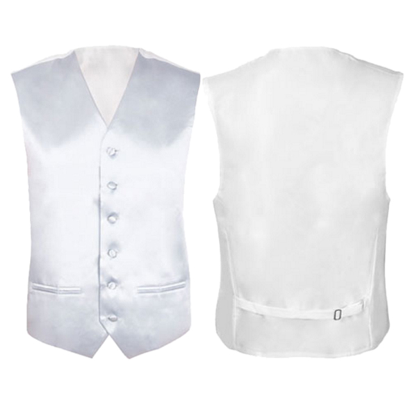 IMC Mens Wedding Waistcoat Groom (Ivory white L/UK 40)