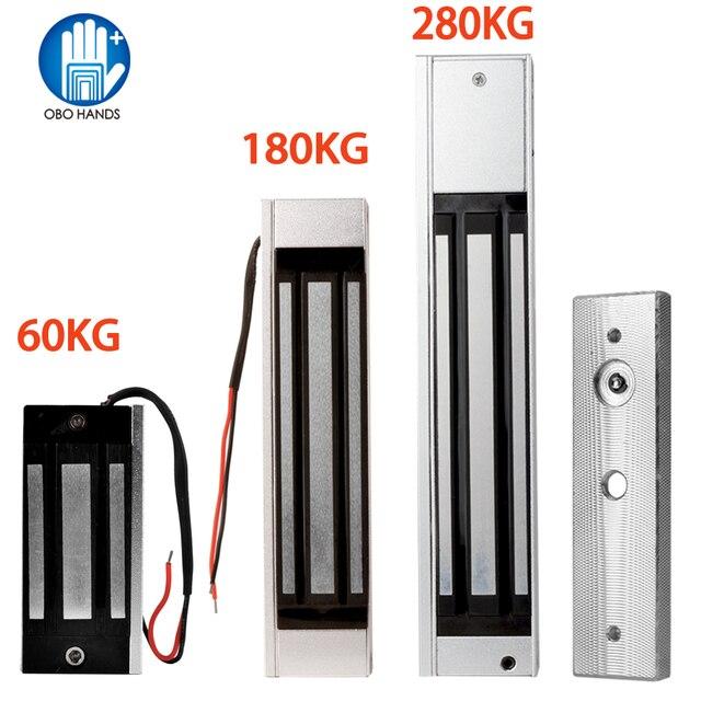 60/180/280 كجم قفل مغناطيسي إلكتروني مقاوم للماء قفل التحكم الكهربائي مغلق عادة لملحقات التحكم في الوصول الشقة
