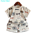 Humor Bear Baby Clothes  Boys Girls Set  2016 Summer Style Fashion Girls Clothing Children Clothing