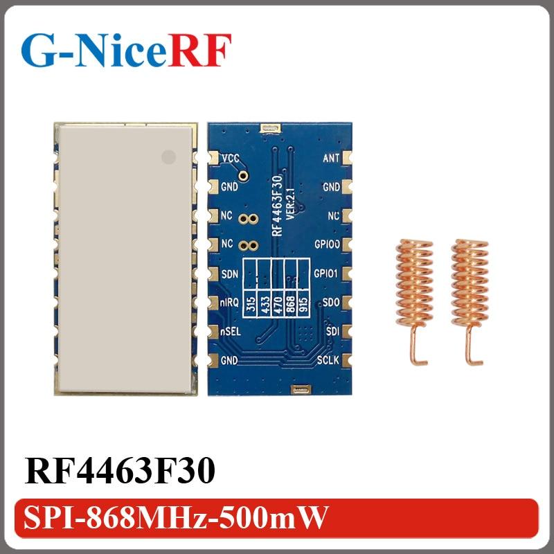 2PCS RF4463F30 High Sensitivity (-126 DBm) SI4463 FSK 868MHz Wireless Transceiver Module