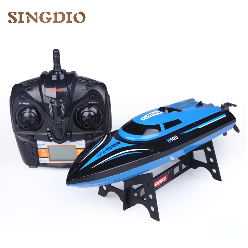 Electronic RC boat top speed 35km / h Four Channel with Cooling system 2.4G remote control Two styles controller with Led ...