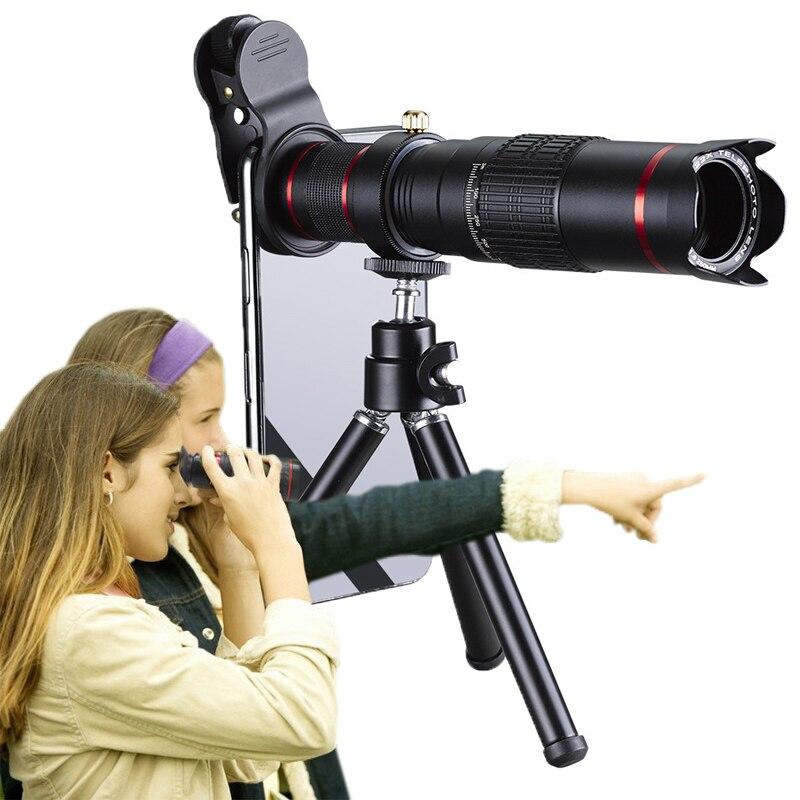 Orsda HD 4 K 22x Zoom teléfono móvil telescopio lente telefoto externa para lentes de cámara para IPhone samsung huawei teléfonos