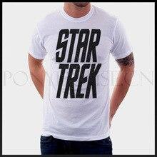 Large Letters Of Star Trek Science Fiction Film t-shirt Men