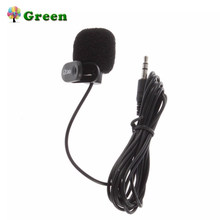 New Mini Portable 3.5mm Mini Studio Speech Mic Microphone w/ Clip for PC Desktop Notebook Lectures Teaching Mic Black(China)