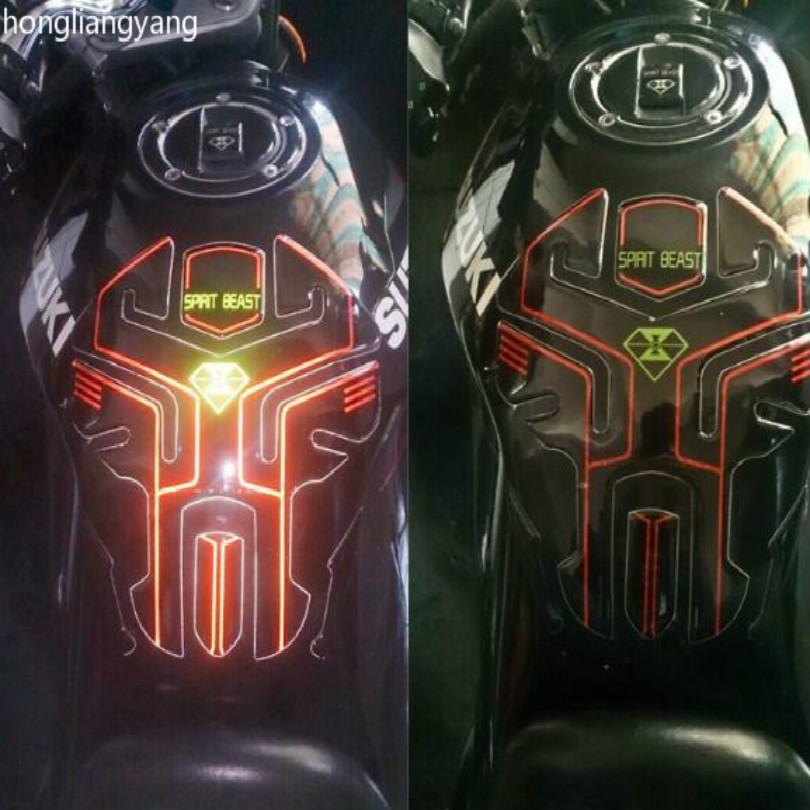 super cool SPIRIT BEAST PU GLUE reflective gw250 tank protector tank sticker FREE SHIPPING in Decals Stickers from Automobiles Motorcycles