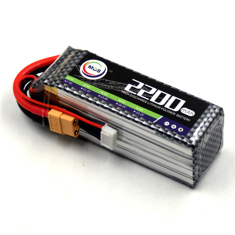 MOS 4S RC airplane Lipo battery 14.8v 2200mah 35C-70C for RC quadcopter car drone boat lithium polymer batteries mos 2s rc lipo battery 7 4v 2600mah 40c max 80c for rc airplane drone car batteria lithium akku free shipping