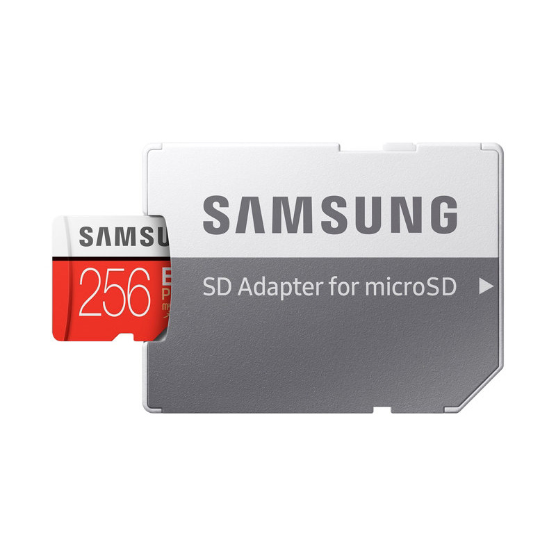Original SAMSUNG Micro SD Memory Card EVO Plus 256GB 95MB/s Class10 U3 UHS-I TF Card 4K HD with Adapter for Smartphone Tablet