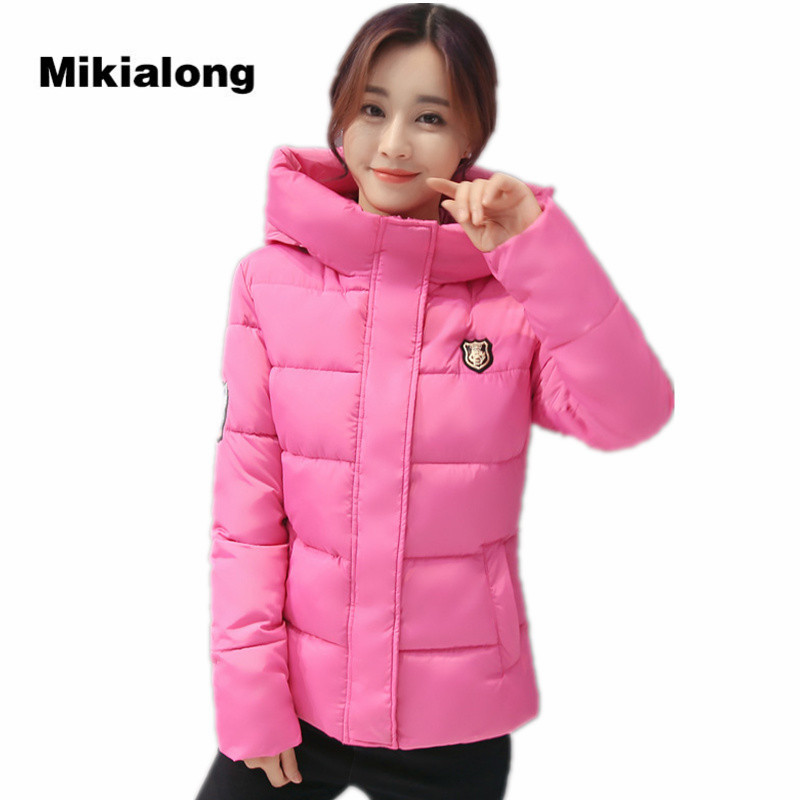 купить  Mikialong Hooded Winter Parka Women Coat 2017 Thick Warm Cotton Padded Jacket Female Parkas Chaqueta Mujer Plus Size 3XL  недорого